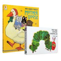 英文原版启蒙2册套装 鹅妈妈毛毛虫 低幼儿童英语启蒙绘本图画书The Very Hungry Caterpillar/