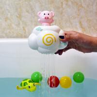 抖音同款儿童洗澡戏水玩具云朵下雨宝宝趣味洗澡玩具小猪云朵