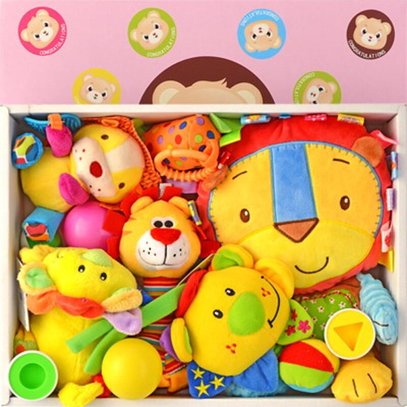 初生婴儿童玩具礼盒装0-1岁新生儿宝宝满月百天玩具摇铃组合礼物 发货周期:一般在付款后2-90天左右发货,具体发货时间请以与客服协商的时间为准