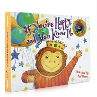 进口英文原版绘本 If You're Happy and You Know It 拍手歌 纸板书 儿童图画书 0-3-6
