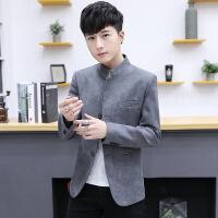 春季男士休闲小西装外套2018新款韩版青年修身潮流中山装西服上衣