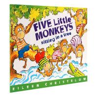 【全店300减100】英文原版绘本Five Little Monkeys Sitting in a Tree 五只小猴