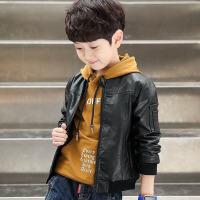 童装男童春装外套儿童皮衣男童开衫男孩上衣韩版2018新款
