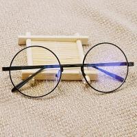 防辐射眼镜男平面平光镜女圆脸可爱抗蓝光电脑镜无度数平镜潮