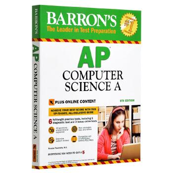 【中商原版】巴朗AP计算机科学A 第8版 修订版 英文原版 Barron's AP Computer Science A