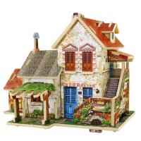 益龙灵(YILONGLING) 3D立体拼图木质拼插建筑模型diy木制小屋儿童益智积木玩具