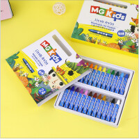 晨光新款M&GKIDS儿童子弹头易可洗油画棒学生绘画蜡笔12色24色36色 ZGM91151