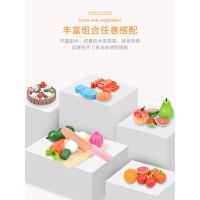 可切水果儿童玩具木制磁性水果蔬菜切切乐女孩过家家厨房玩具男孩