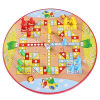 大号木制跳跳棋飞行棋二合一桌面游戏 儿童玩具4-6岁