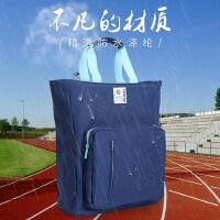 得力防水补习袋韩版小学生中学生手提袋帆布拎书袋补课包手拎拉链包儿童文件袋美术包试卷收纳文具多层大容量