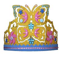 儿童皇冠头饰diy手工制作亮片头扣玩具生日聚会帽子