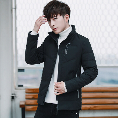 男士羽绒服轻薄冬季2018新款韩版修身帅气青年短款男装保暖外套潮 发货周期:一般在付款后2-90天左右发货,具体发货时间请以与客服协商的时间为准
