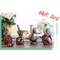 美式创意家居装饰品摆件酒柜客厅样板间工艺品办公室坚果小鸟摆设
