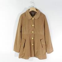 CA0886精品秋冬新款单排纽扣显瘦好搭配女纯色直筒毛呢外套