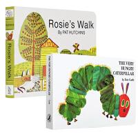 【中商原版】廖彩杏推荐纸板书2册 英文原版 The Very Hungry Caterpillar好饥饿的毛毛虫 Ro