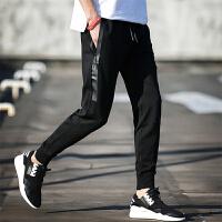 日系裤子黑色男裤卫裤收口男士运动裤韩版休闲裤小脚裤哈伦裤修身