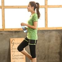 大码运动套装胖妹妹200斤跑步女装胖mm健身房瑜伽服微胖夏装宽松
