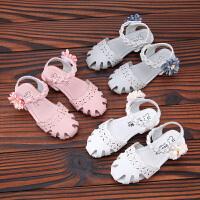 女童凉鞋夏季新款儿童花朵凉鞋女童包头公主凉鞋小女孩舞蹈鞋