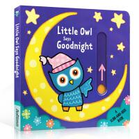 英文原版 Little Owl Says Goodnight (Slide & Seek) 小猫头鹰说晚安趣味玩具书