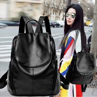 新款潮女士双肩包韩版时尚休闲百搭pu软皮背包2018个性书包包