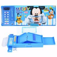 迪士尼 女小学生苏菲亚女孩可爱卡通笔盒文具盒儿童自动多功能塑料铅笔盒