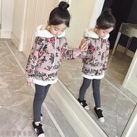 冬季女童冬装套装韩版加绒加厚潮衣小女孩卫衣时髦洋气秋冬儿童两件套秋冬新款 粉色 100cm