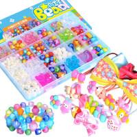 儿童串珠玩具女孩穿珠子手链项链小礼物宝宝diy益智手工制作材料