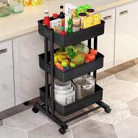 索尔诺 置物架层架家用厨房置物架小手推车层架可移动客厅带轮收纳架子置物架