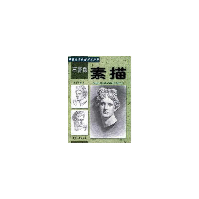【正版现货】石膏像:素描——基础美术阶梯训练教材 陈华新 9787810580694 上海大学出版社