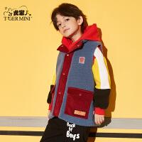 【3件2折:113.8元】小虎宝儿男童马甲秋季外穿洋气2021款儿童无袖保暖外套潮