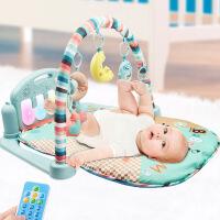 健身架婴儿3-12个月游戏毯宝宝带音乐遥控发光早教脚踏琴玩具