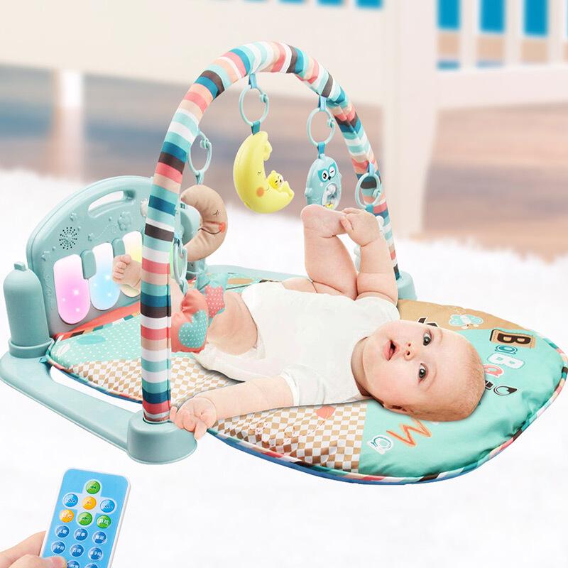 健身架婴儿3-12个月游戏毯宝宝带音乐遥控发光早教脚踏琴玩具 发货周期:一般在付款后2-90天左右发货,具体发货时间请以与客服协商的时间为准
