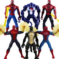 20180530101902819蜘蛛侠 男孩玩具礼物 毒液人偶 蜥蜴人 关节可动公仔模型6款 简装公仔