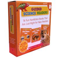 【全店300减100】英文原版绘本 Guided Science Readers Level D 16本科学指导图书科普