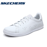 Skehers斯凯奇女鞋新款透气街头平底板鞋健步牛皮小白鞋