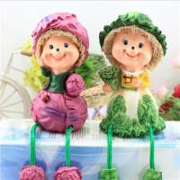 树脂吊脚娃娃 家居装饰工艺摆件 情人节生日婚庆礼品