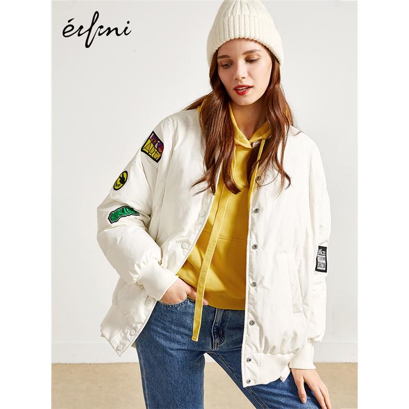 2件2.7折价:805 伊芙丽冬装新款韩版棒球式羽绒服外套女1189987831当当开学季(2件2.7折款)