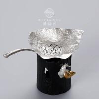 纯锡茶漏茶滤 创意树叶茶具功夫茶道