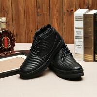 国内单剪标冬装皮鞋加绒加厚高帮保暖厚底男士棉皮鞋商务休闲男鞋