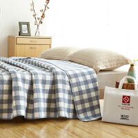 纯棉纱布单人双人毛巾被 午睡毯休闲毯空调毯 毛毯盖毯 200cm x 230cm