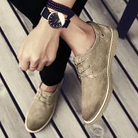 货到付款 2017年秋季新款男士休闲皮鞋软面皮复古男鞋真皮软底透气伐木潮鞋