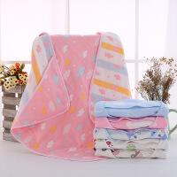 乐元贝比 六层纯棉6层纱布抱被新生婴儿宝宝毛巾被抱被毯包被方被婴儿睡袋