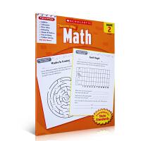 英文原版 学乐能赢 Scholastic Success with Math,Grade 4 儿童学习英语数学练习册