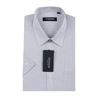 Youngor/雅戈尔男士商务休闲全棉灰色格子短袖衬衫 SPM13784-13