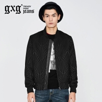 gxg.jeans男装秋季休闲黑色棒球服修身青年百搭夹克外套63621219