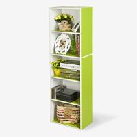 [当当自营]慧乐家 书柜书架 彩色五层书柜 大容量储物柜 绿色+白色 11055-2
