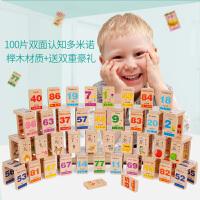 儿童木制大号多米诺骨牌小学生智力积木3-6岁宝宝认识汉字玩具