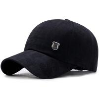 帽子男士棒球帽休闲潮人百搭鸭舌帽男黑色嘻哈帽青年帽