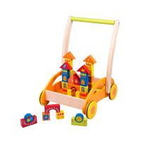 幼儿儿童玩具四轮推推乐 积木宝宝手推学步车 手推学步车