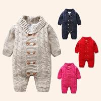 宝宝加绒毛衣女0一1岁婴儿加厚公主初生婴儿衣服新生儿保暖秋冬装